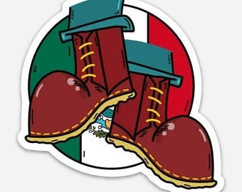 mexican skinhead boots sticker
