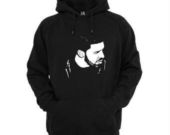 Men's Drake Hoodie Pullover Sweater Slogan Hoody Urban Jumper Plus Size S - 5XL