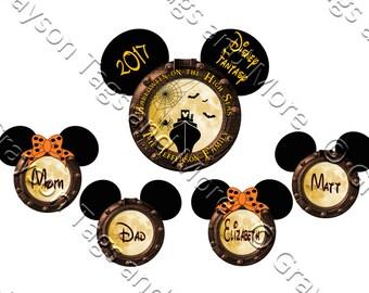 Extra Large Personalized Halloween on the High Seas Porthole Mickey and Medium Porthole Disney Cruise Door Magnet Set