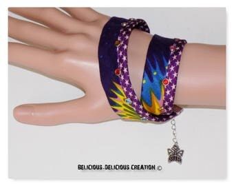 Original Bracelet  !! WAXSTAR !! Multi en tissu wax Taille long 40cm a 45cm belicious-delicious-creation