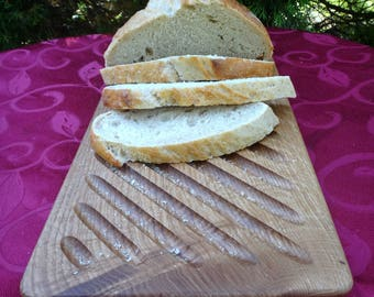 Bread Cutting Board With Crumb Catche     wedding gift, housewarming gifts, wedding gifts, Christmas gifts