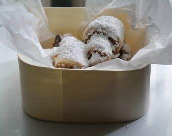 butterhorn walnut cookies, butterhorn cookies, hungarian butter cookies, palatine il bakery, old fashion hungarian walnut butter cookies