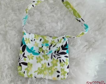 "Baby bag in turquoise printed ""shoe"""