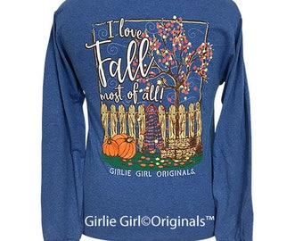 Girlie Girl Originals Fall Retro Heather Royal Long Sleeve T-Shirt