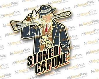 """Zeds Dead """"Stoned Capone"""" hat pin"""
