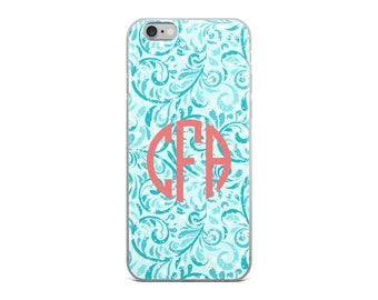 Monogram iPhone Case, Custom iPhone Case, iPhone 6 case, iPhone 6s Case, iPhone 6sPlus Case, iPhone 6Plus Case, iPhone 7/8 case, iPhone X