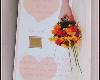 Scratch ticket for the bridal bouquet set