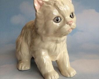 Melba Cat Kitten Pottery Figurine Vintage England