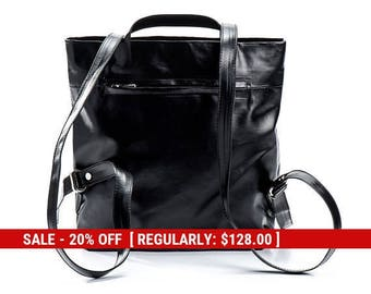 small black backpack purse backpack womens backpack handbags - mini backpack - small backpack - fashion backpack - slim backpack - DAILYBPF