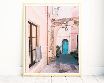 Art Prints, Sicily, Photography, Italy Print, Italy Wall Art, Wall Art Print, Pink Print, Large Wall Art, Italy Photograph, Gift for Her