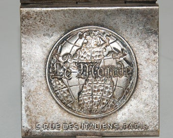 1960s Era Paris Le Monde Newspaper Advertising Book Match Holder -- Free Shipping