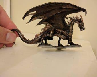 Metallic Painted Shadow Dragon miniature