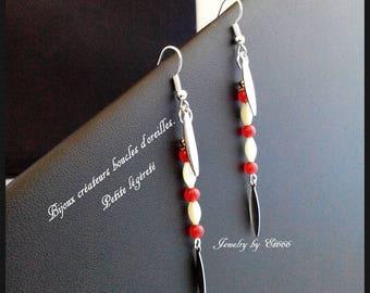 Creative jewelry earrings. Small lightness