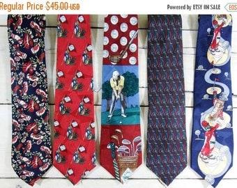 ON SALE Men's Ties -Silk Tie -  tie silk - vintage ties - mens neckties
