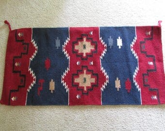 "Navajo Inspired Designed Wool Rug-20"" x 40"""