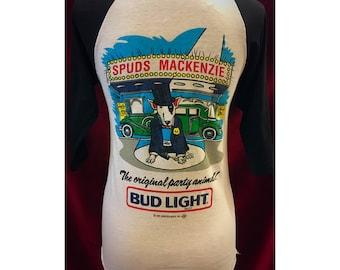 Vintage 80's Spuds Mackenzie Baseball Tshirt