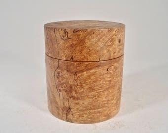 Exquisite Big Leaf Maple Burl Container