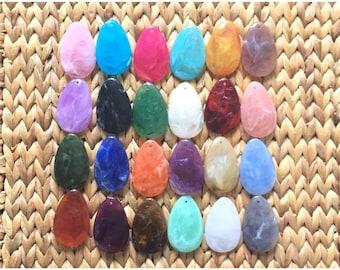 Colorful Teardrop Pendants, 57x36mm, acrylic gem pendants, 1 hole pendants, long necklace, wire wrapped pendant, wrapping pendant necklace