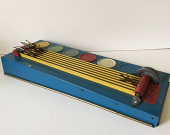 "Vintage Wolverine Gee-Wiz Tin Horse Race Game...Tin Toy Collector...""Sandy Andy"" Tin Toy..."