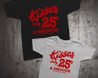 Kisses 25 cents I'm saving for college kids t-shirt