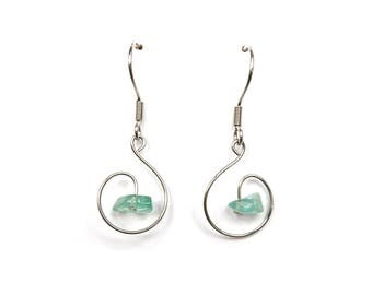 Fashion jewelry, boho gypsy earrings blue apatite jewelry gemstone earring fashion earring gypsy boho jewelry natural gemstone jewelry aywin
