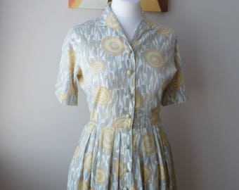 Original 1950's Abby Kent Shirt Waist Dress, Day Dress.