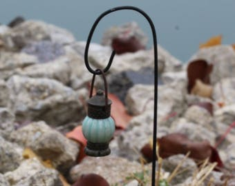 Fairy Garden  - Firefly Lamp With Shepherds Hook - Miniature