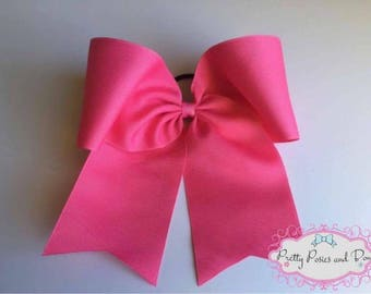 Pink Cheer Bow, Hot Pink Cheer Bow, Breast Cancer Awareness Bow, Pink Out Bow, Pink Bow