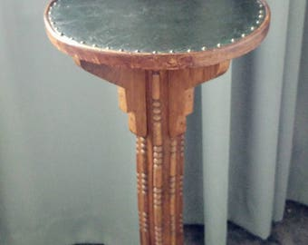 Large antique Art Deco pedestal plant stand