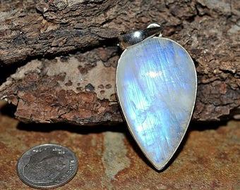 Moonstone Silver Pendant , Natural Moonstone Pendant , 925 Moonstone Pendant , Moonstone Necklace Pendant, Silver Pendant
