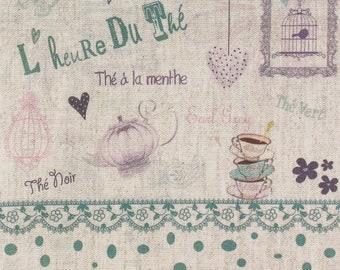 """Natural metis coupon """"tea time"""" 20 X 20 cm"""