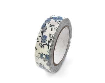 Washi tape in blue floral fabric