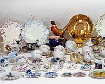 100+ Pieces Miniature Cups Saucers Tea Ware Souvenirs Japan UK Holland FABULOUS!