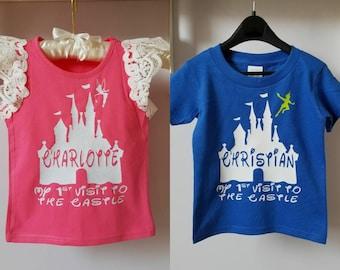 Castle Name Shirt - Custom Shirt - Tinker Bell or Peter Pan