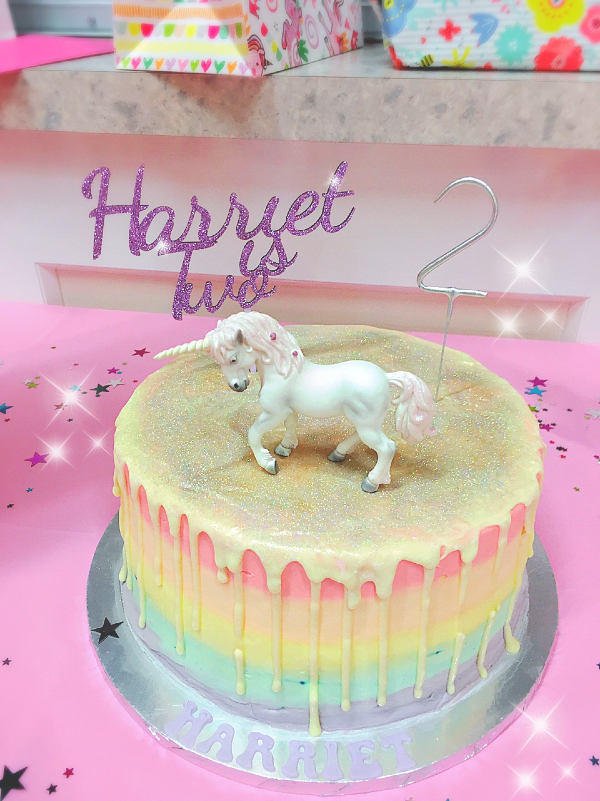 Personalised Aged Cake Topper Wooden Cake Topper Glitter Cake
