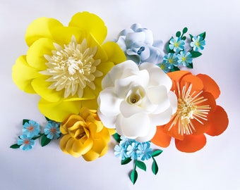 Paper Flowers - Paper Flower Decorations - Paper Flowers Wedding - Paper Flowers Nursery - Paper Flowers Wall Decor - Paper Flowers Backdrop