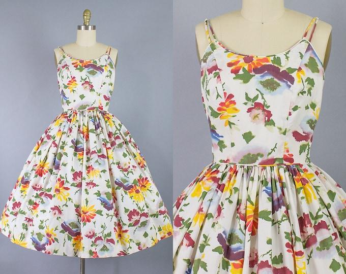 1950s Floral Sundress/ XS/S (33b/25w)