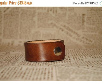 15% off Men's gift Men's leather bracelet Genuine cuff leather bracelet Gift for men Anniversary gift for husband Groomsmen gifts For boyfri