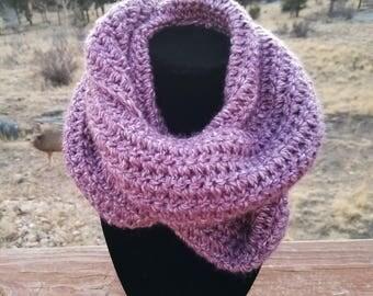 Crochet Infinity Scarf - Infinity Scarf - Chunky Crochet Infinity Scarf - Purple Infinity Scarf - Handmade Scarf - Crochet - Winter Scarf