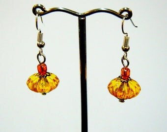 Pumpkin earrings Halloween