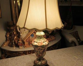 ITALY CAPODIMONTE LAMP