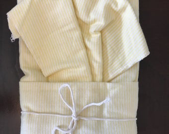 Yellow Stripes Oversize Swaddle Blanket and Burp Cloth Set