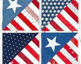 SARIELLA Half Square America Pattern