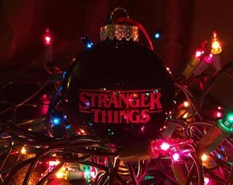 stranger things christmas ornament