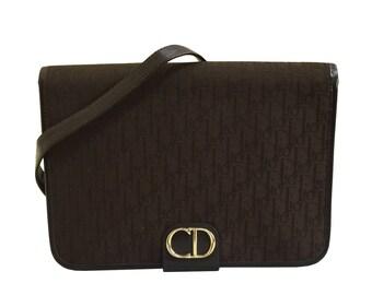 CHRISTIAN DIOR Vintage Brown Monogram Shoulder Bag