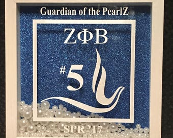 Personalized Zeta Phi Beta Shadow Box