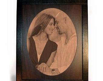 Engraved Photo Framed Pyrograph