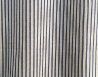 summer sale custom fabric shower curtain ticking stripe shower curtain indigo blue natural 72 x 84