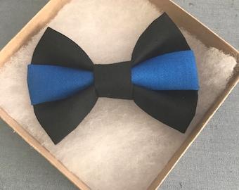 NEW: Thin Blue Line Hair bow