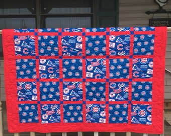 Chicago cubs baby blanket.